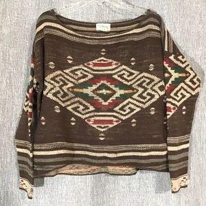Aztec design sweater